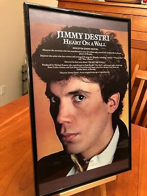"Big 11X17 Framed Jimmy Destri (Blondie) ""heart On A Wall"" Lp Album Cd Promo Ad"