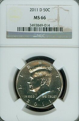 2011-D Kennedy Half Dollar Grade MS66 by NGC ..