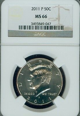 2011-P Kennedy Half Dollar Grade MS66 by NGC ..
