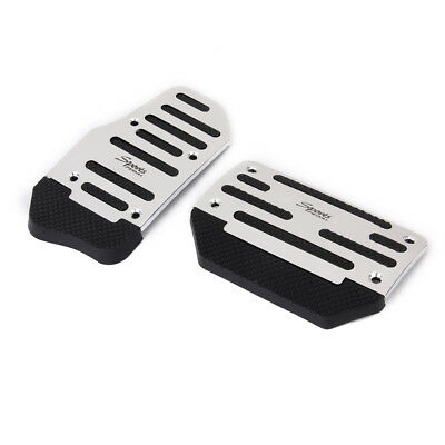 Brake Accelerator Sport Non-Slip Pedal Pad Vehicle Automatic AT Car Silver