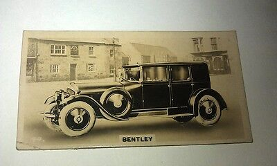 BENTLEY SIX   -  Wills New Zealand Real Photo Cigarette Card Issued 1926