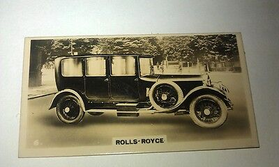 ROLLS ROYCE  - Wills New Zealand Real Photo Cigarette Card Issued 1926