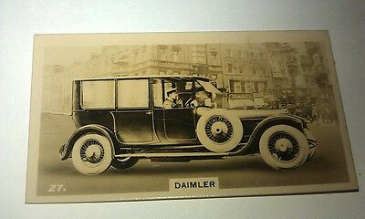DAIMLER  -  Wills New Zealand Real Photo Cigarette Card Issued 1926