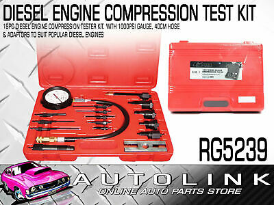 19 Piece Diesel Compression Tester Kit With Adapters To Suit Popular Cars,trucks