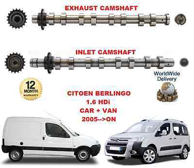 FOR CITROEN BERLINGO 1.6 HDi 2005-->ON NEW INLET & EXHAUST ENGINE CAMSHAFT