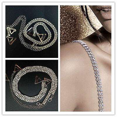 Decorative Adjustable Detachable Bra Strap Diamante Rhinestone Wedding Bridal UK