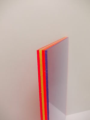 3 mm Mars Red  A6-A5-A4-A3 Perspex Acrylic Fluorescent Sheet Plastic Material