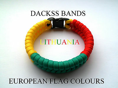 Lithuania National Flag  Paracord Wristband Bracelets European Union World Cup