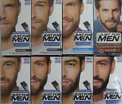 Just For Men Beard & Moustache Hair Dye Colourant - Various Shades - New