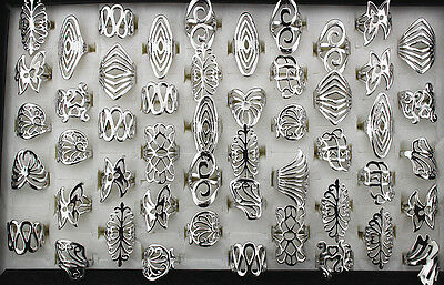 Free shipping Wholesale mixed Lots 70pcs classic alloy lady's rings EH192