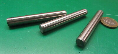 18-8 Stainless Steel Metric Dowel Pins M10 Dia x 70mm Length, 3 Pieces