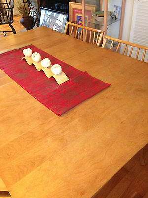 Vintage Mid-Century Modern CONANT BALL STAMPED Dining Room Table & 6 Chairs