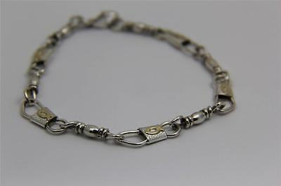 ACTS Sterling Silver Fishers Of Men Bracelet with 10kt Gold Ichthys (fish)