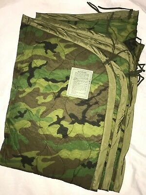 Usgi Military Woodland Camouflage Bdu Poncho Liner Wet Weather Brand New