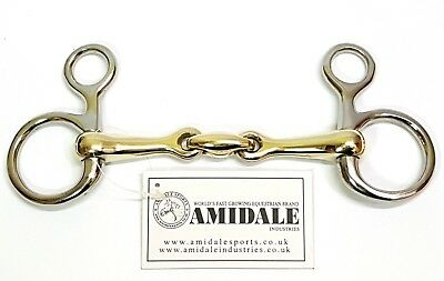 Hanging Cheek Lozenge Baucher Horse Bit S. Steel Copper Mix Amidlae 6 Sizes Bnwt