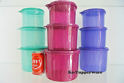 Limited edition Tupperware Textured canister container set (9) kitchen storage