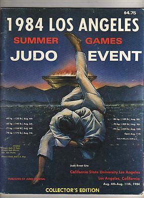 Orig.Complete PRG    Olympic Games LOS ANGELES 1984  -  JUDO  !!  VERY RARE