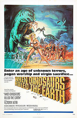 When Dinosaurs Ruled The Earth - Hammer Horror - A4 Laminated Mini Poster