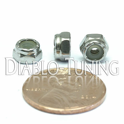 #5-40 NM - Qty 10 - Nylon Insert Hex Lock Nut SAE UNC - A2 Stainless Steel 18-8