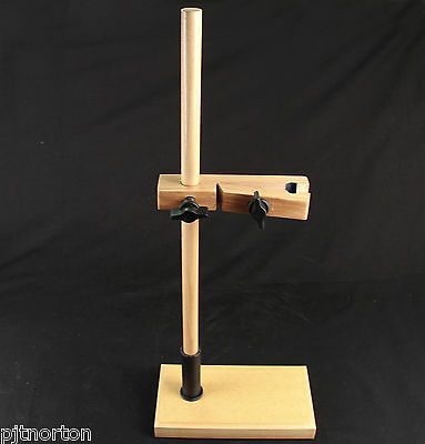 Wooden Burette Stand with integral clamp 460mm high accepts up to 50ml burette