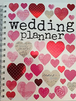Hearts Spiral Wedding Planner Book Diary Journal Organiser - Engagement gift