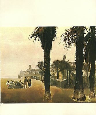 "1970 Vintage CALIFORNIA Full Color Art Plate /""AMADOR CITY/"" McIntyre Lithograph"