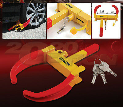 Heavy Duty Wheel Lock Anti-Theft Parking Clamp Claw Boot For Ford Car & Suv