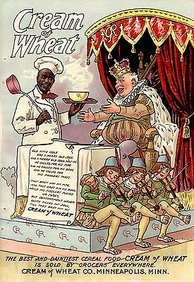 1901 COLOR CREAM OF WHEAT POEM AD-OLD KING COLE