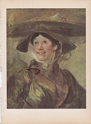 """1939 Vintage /""""THE LITTLE WHITE GIRL/"""" by WHISTLER Color Art Plate Lithograph"""
