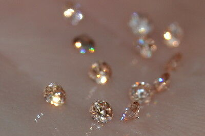 """""""FLAWLESS"""" Pair of 1.75mm Multiple Colored Russian Simulated  Diamonds"""