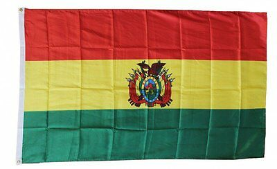 BOLIVIA FLAG 3 x 5 '  FLAG  -  NEW 3X5 INDOOR OUTDOOR COUNTRY FLAG - lower price
