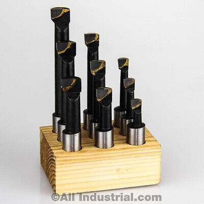 "1/2"" Boring Bar Set Pro Quality 9 Pcs Carbide Tipped Bars 1/2"" Shank Lathe Tool"