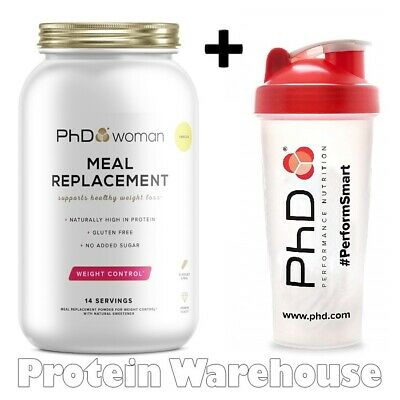 PhD Woman Meal Replacement 770g Weight Loss Slimming + Free PhD Woman Shaker