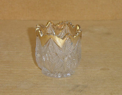 EAPG CRYSTAL GOLD PENNSYLVANIA CHILD SPOONER OR TOOTHPICK US GLASS 1897