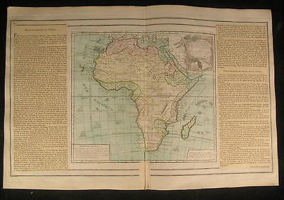 Africa Mts. of Moon sailing ships 1766 beautiful old vintage antique rare map