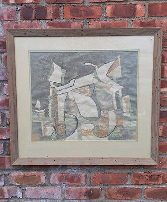 Original 1948 Abstract Painting By New York Artist DeHirsh Margules. Signed