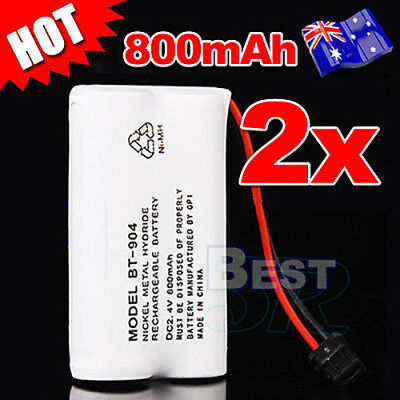 2X 2.4V For Uniden Bt-904 Bt-904S Bt-802 Cordless Phone Battery 800Mah Repl