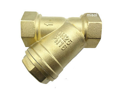 """10 units of brass Y type strainer valve,Size: 1"""", DN25  Connector Fitting"""