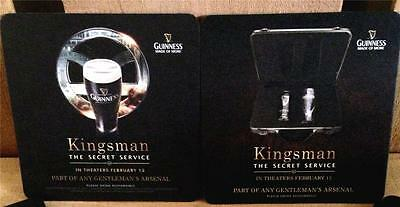 12 Kingsman The Secret Service Movie Guinness Collectible Beer Coasters New