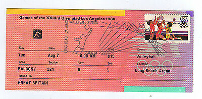 Orig.ticket   Olympic Games LOS ANGELES 1984  -  VOLLEYBALL 07.08.  !!  RARE