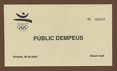 Orig.Ticket     Olympic Games BARCELONA 1992  -  28.07.1992  !!  VERY RARE