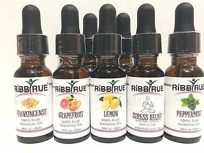 100% Pure Essential Oils 15ml Glass Dropper