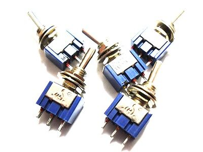 5 Pieces Toggle Switch ON-OFF 2 Position 3-Pin SPST 6A 125VAC  Car/Boat/Bike