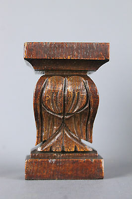 Antique French  wood carved Corbels Ornamental Column