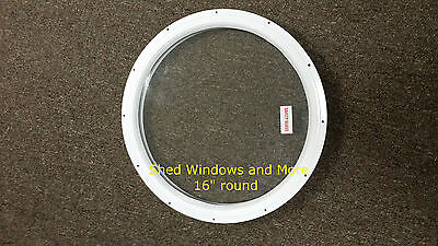 """16"""" Round Window Shed Playhouse Garage Storage Building Tree House Coop Sheds"""