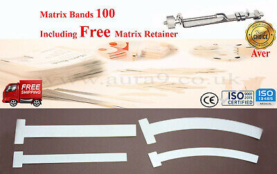 Dental Matrix Bands T Bands, 100 Pcs Pack, Free Retainer Worldwide Delivery A+