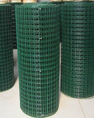 "1.2m x 30m PVC COATED WELDED WIRE MESH 1/2"" x 1/2"" CHICKEN RABBIT MESH 17 GAUGE"
