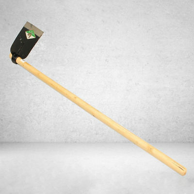 145cm Flat Hoe With Wooden Handle Flat Mattock Gardening Farming Hand Tool NEW