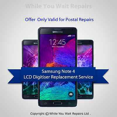 Samsung Note 4 Complete LCD Screen Digitiser Repair Replacement Service