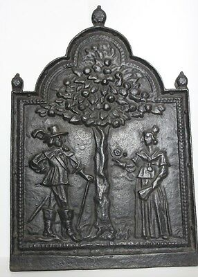 Antique Cast Iron Fire back Tree of Life  [PL889]